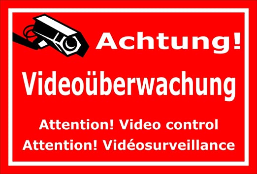 Melis Folienwerkstatt Cartel - Atención Videovigilancia - 3 ...
