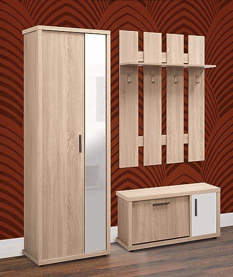 Lola moderno pasillo Juego de muebles de armario con espejo ...