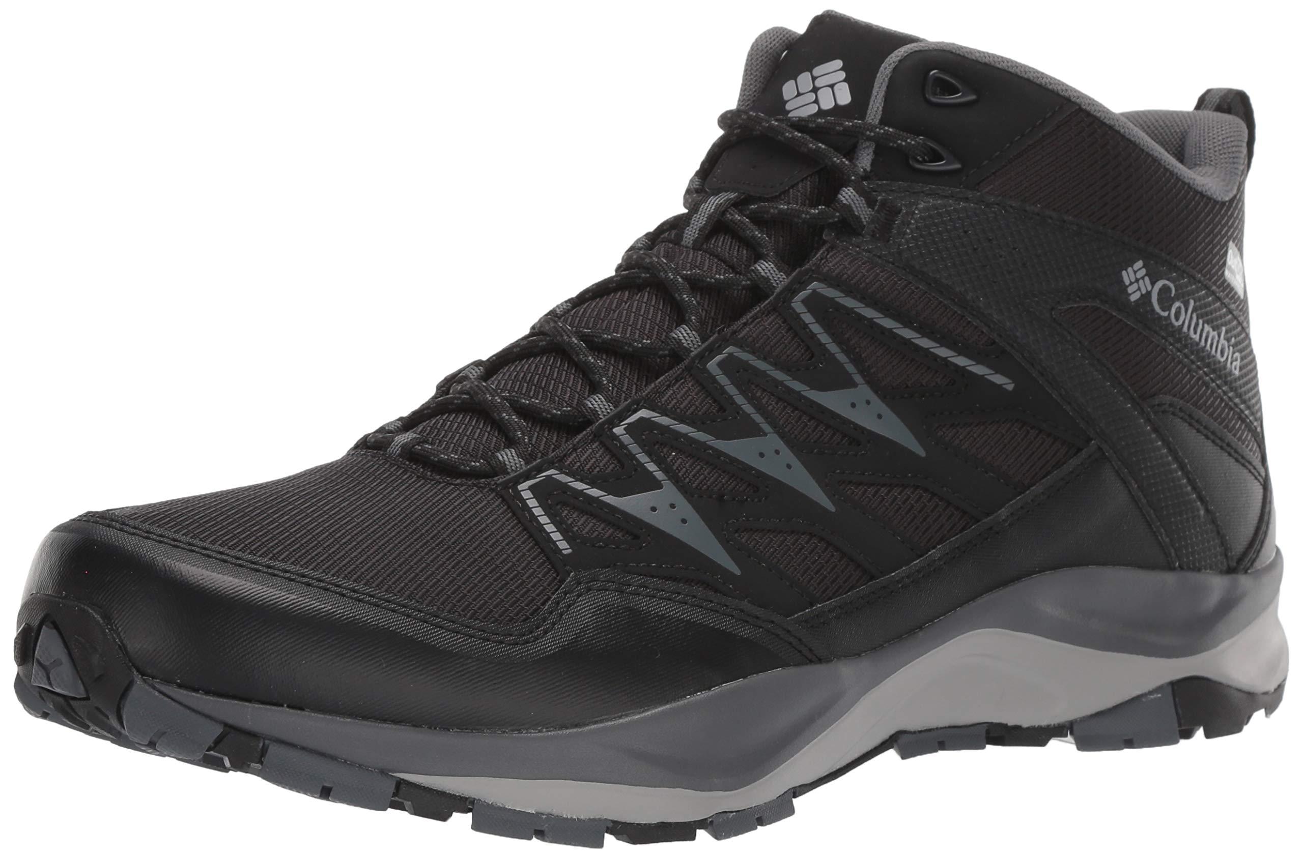 Columbia Men's WAYFINDER MID Outdry Hiking Shoe, Black, steam, 15 Regular US by Columbia