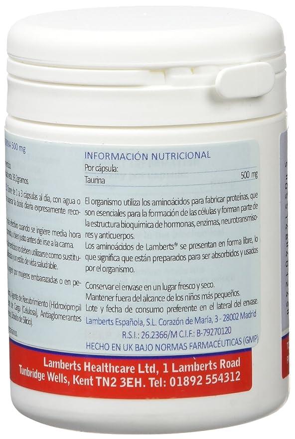 Lamberts Taurina 500mg - 60 Cápsulas: Amazon.es: Salud y ...