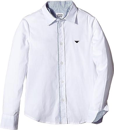 Armani Junior Camisa Niño Blanco 8 años (128 cm): Amazon.es: Ropa