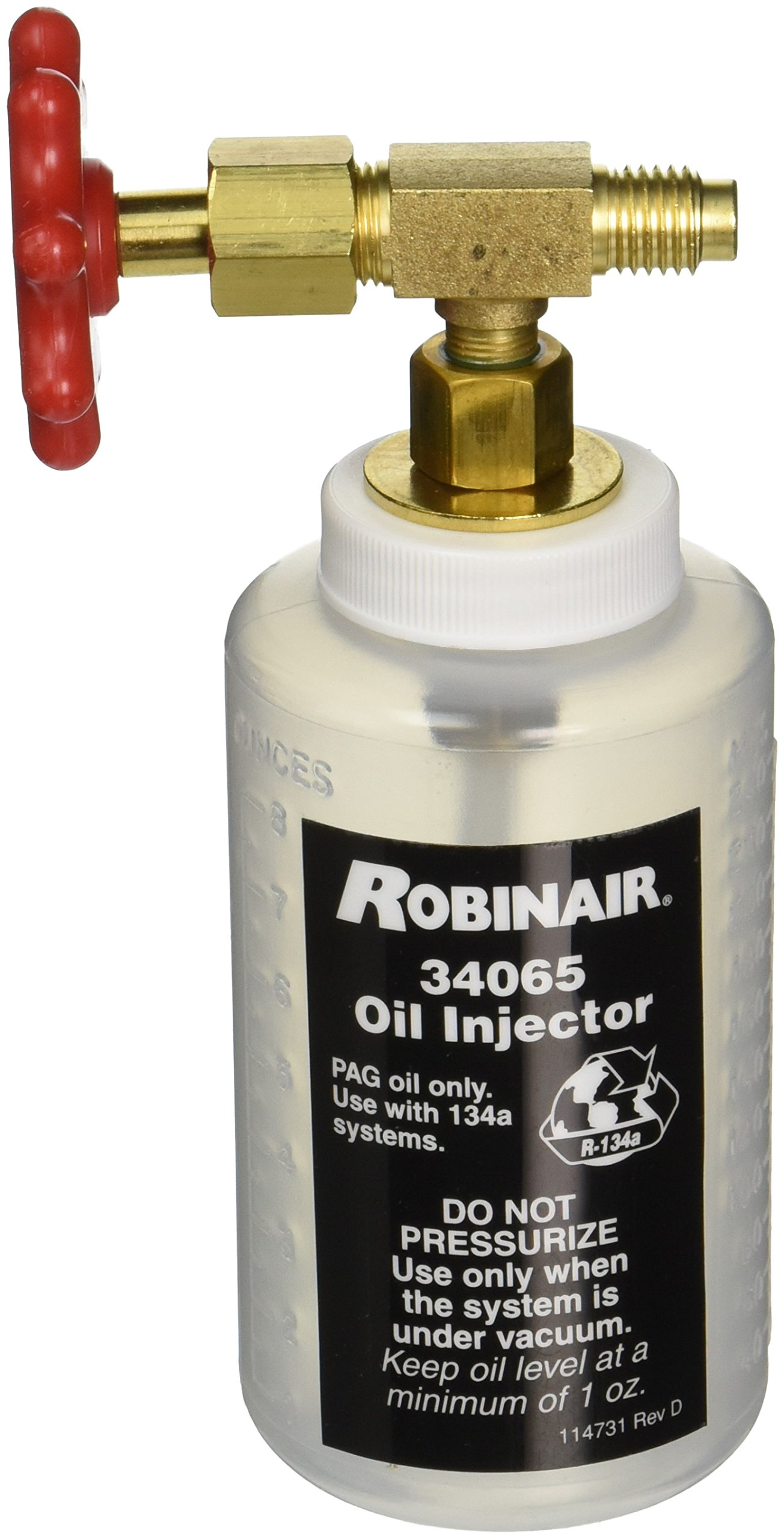 Robinair 34065 R-134a Oil Injector with 1/2'' Acme Fitting