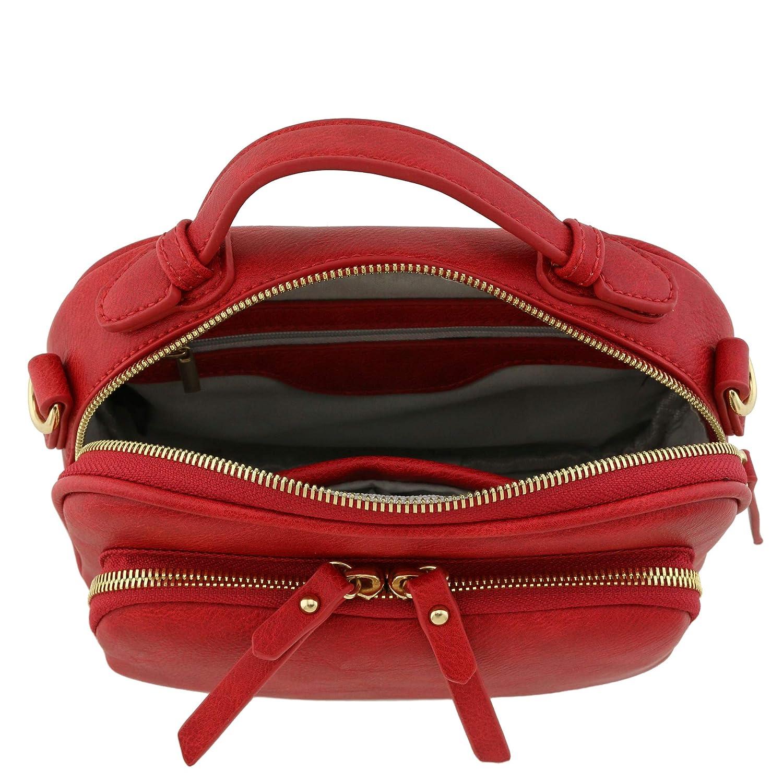 Topphandtag mini axelväska crossbody handväska Röd