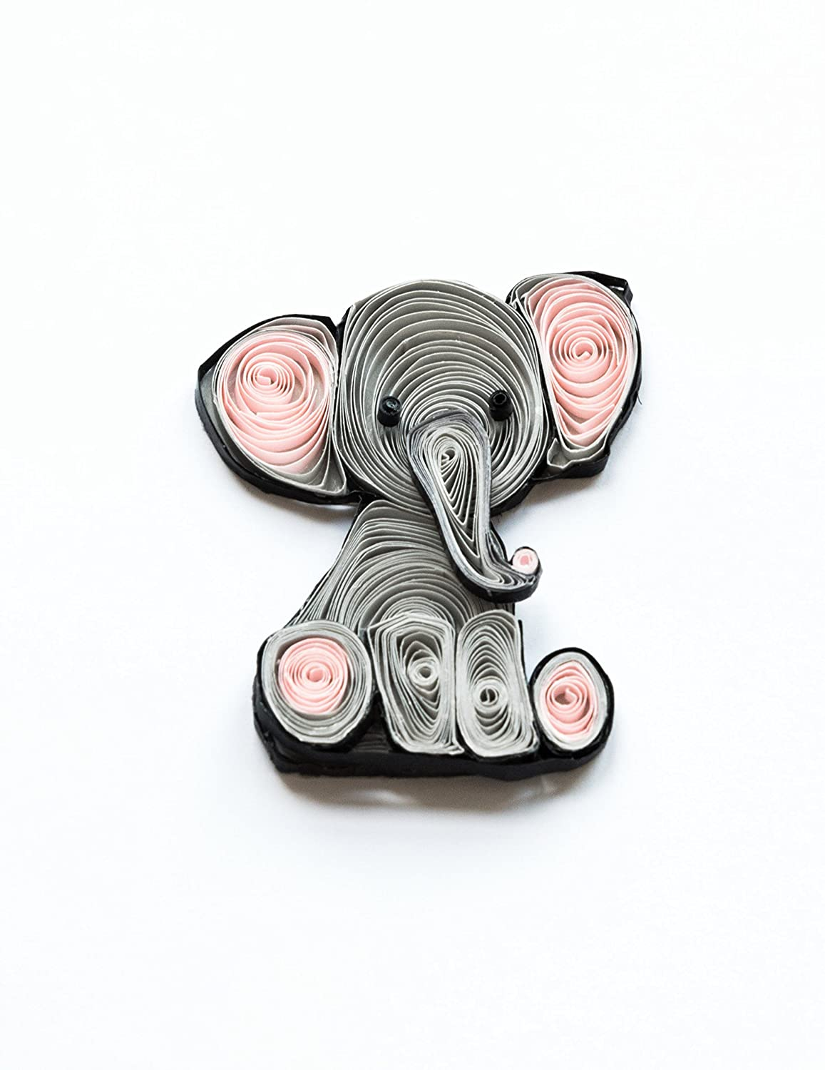 Amazon.com: Nursery Decor Elephant Wall Art Baby Shower Gift For New Boy Girl Paper Quilled: Handmade