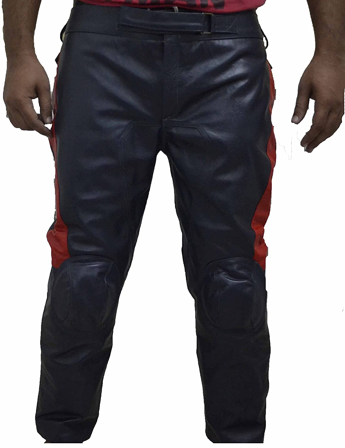 Men's Captain America Avengers Cow Hide Leather Pants - DeluxeAdultCostumes.com