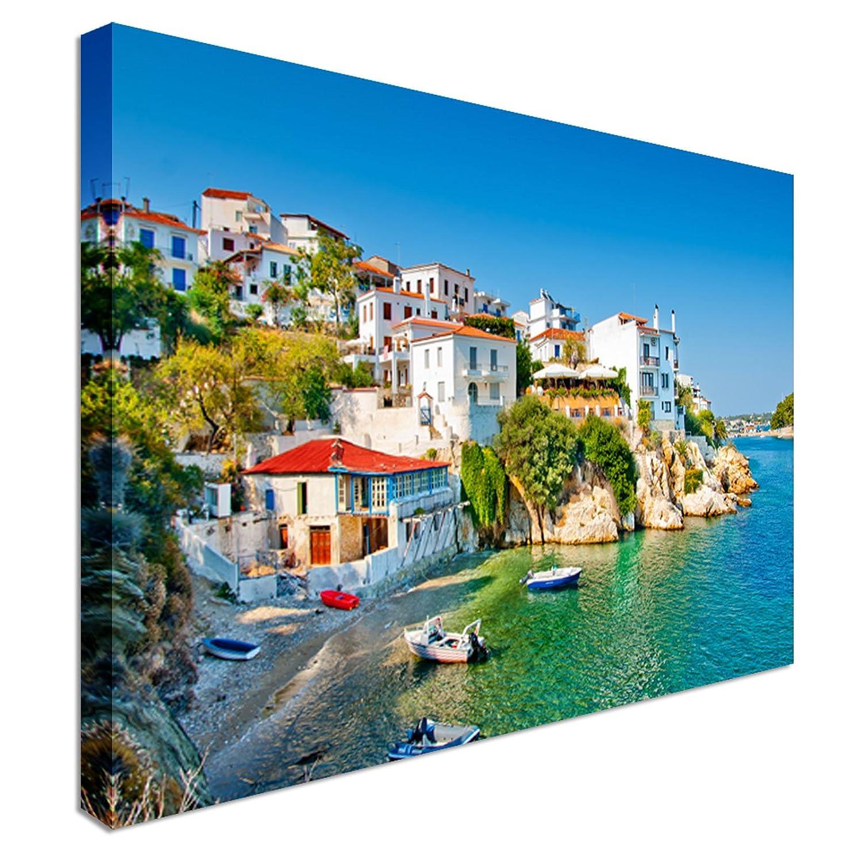Skiathos in Greece 12x16 inches   Canvas Art Cheap Wall Print - high