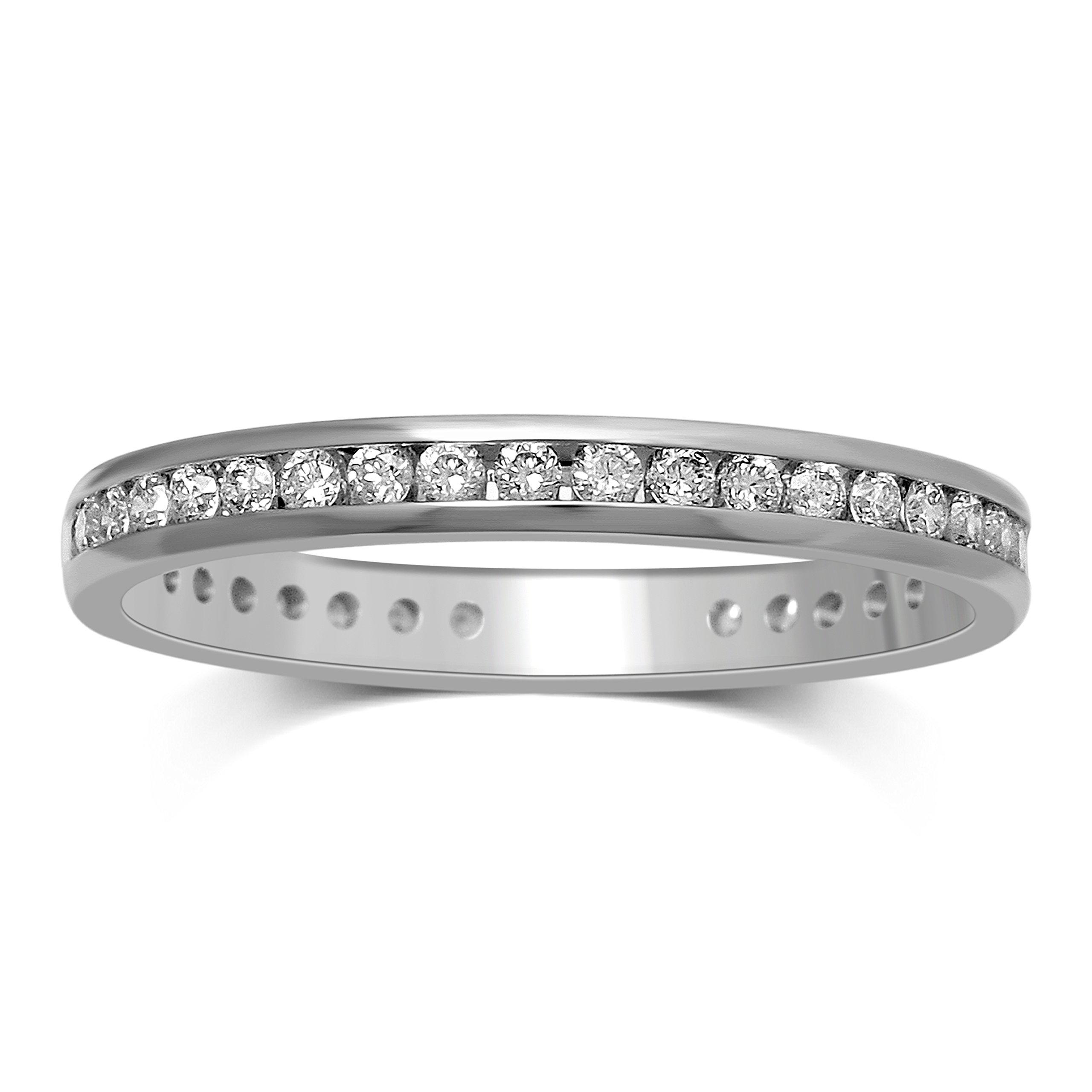 Diamond Jewel 10K Rose Gold 1/7 cttw Diamond Stackable Ring