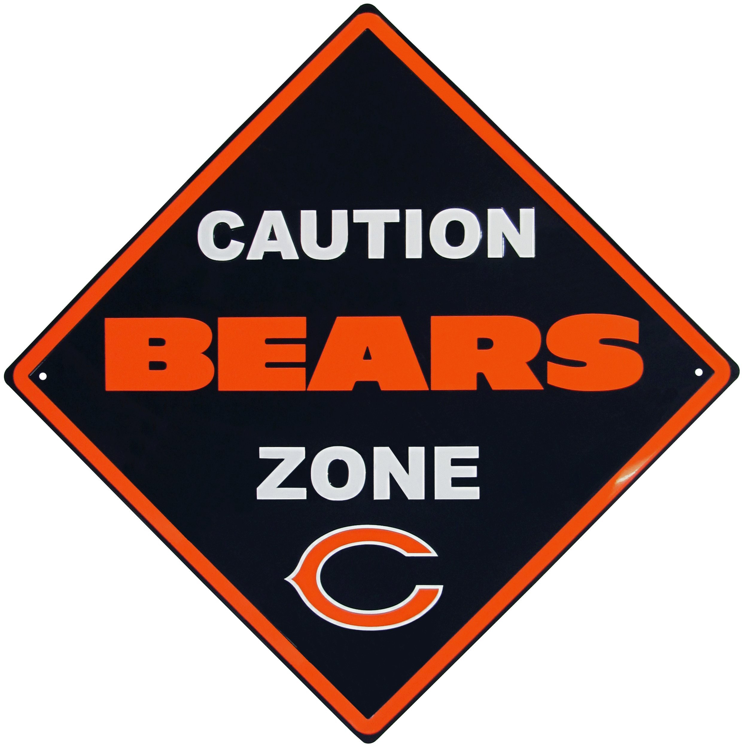 NFL Chicago Bears Caution Wall Sign Plaque, 14'' by Siskiyou