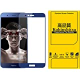 Honor 8 Pro Screen Guard - Kohinshitsu 3D Tempered Glass Screen Protector for Honor 8 Pro Mobile Phone 2017 Model - Blue Color