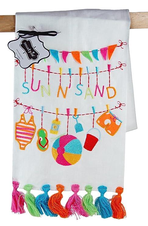 Pastel de barro sol Narena toalla de lino - 4404093
