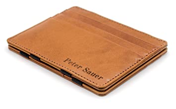 dc88055ac2035 JAIMIE JACOBS Flap Boy Slim - Das Original - Magic Wallet mit Gravur  Magischer Geldbeutel Dünn