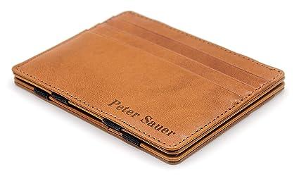 JAIMIE JACOBS ® Cartera Mágica Flap Boy Slim con Grabado - el Original - Magic Wallet con Bloqueo RFID, Protege Tarjetas de Crédito, Tarjetero Hombre ...