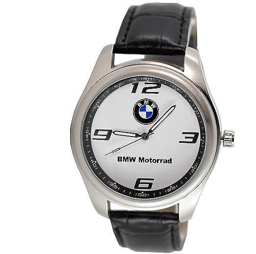 Reloj de pulsera deportivo BMW MOTORRAD de cuarzo, redondo, correa negra, incluye batería de repuesto y bolsa de regalo: Amazon.es: Relojes