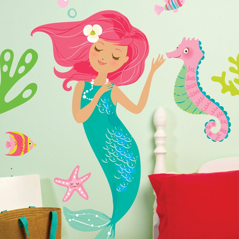 Amazon Wallies Wall Decals Mermaid Wall Sticker 19 Inch X 38
