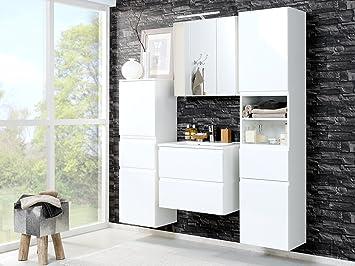 Badezimmer (4-teilig) Badezimmerprogramm Bad komplett Set Möbel ...