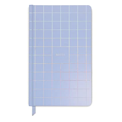 DesignWorks Ink Iridescent Soft Touch Hard Cover Journal, Grid Notes