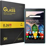 Lenovo Tab 3 8 Essential screen protector, KuGi Lenovo Tab 3 8 9H Hardness HD clear Premium Tempered Glass Screen Protector for Lenovo Tab 3 Essential 8 inch tablet (1ps)