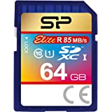 シリコンパワー SDXCカード 64GB Class10 UHS-1対応 最大読込速度85MB/s 防水 永久保証 Elite SP064GBSDXAU1V10