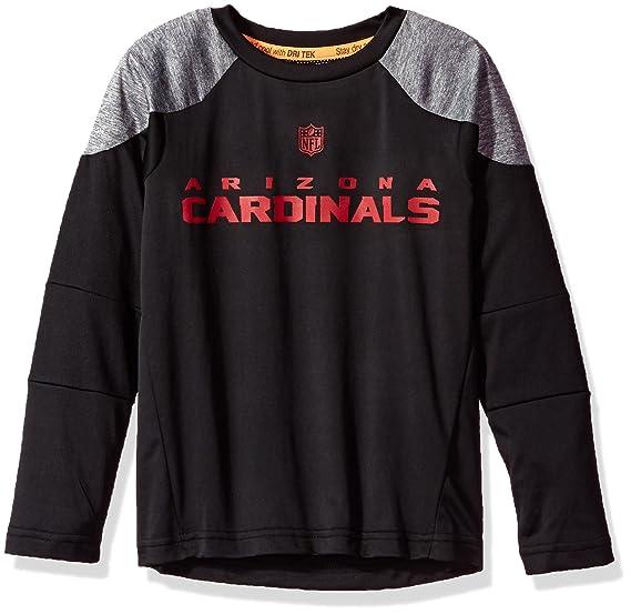 "448847e5 Outerstuff NFL Boys 4-7""Gamma Long Sleeve Performance Tee-Black-S"