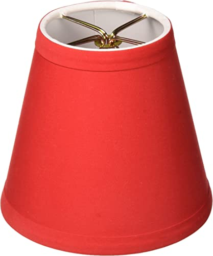 Royal Designs CS-1002-5RED-6 Clip On Empire Chandelier Lamp Shade, 3 x 5 x 4.5 , Red, Set of 6