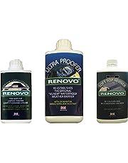 Renovo Kit de Limpieza REN-KIT2 Triple Contiene Suave Superior Reviver/Dulce Ultra Proofer/Suave Superior Negro, Limpiador de Lona