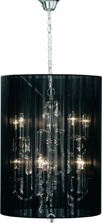 Premier Housewares - Lámpara de pared de metal con gotas transparentes y pantalla de hilos (10 luces, 60 w)