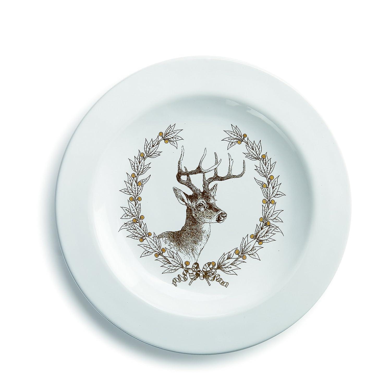 Demdaco 2020160171 Deer Snack Plate, Multicolor