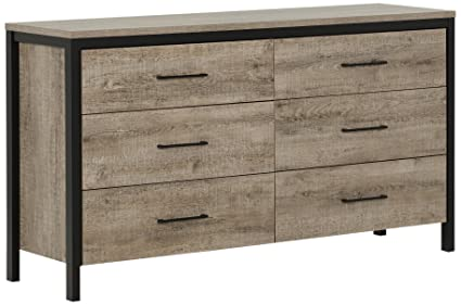South S Drawer Double Dresser Weathered Oak