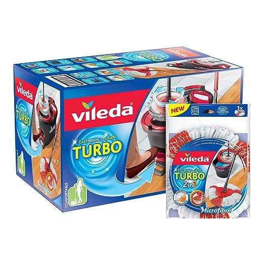 23 opinioni per Vileda Easy Wring and Clean Turbo Set straccio in microfibra e secchio,