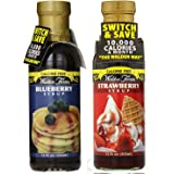 Walden Farms Syrup, Strawberry / Blueberry - 12 Ounce (Blueberry + Strawberry)