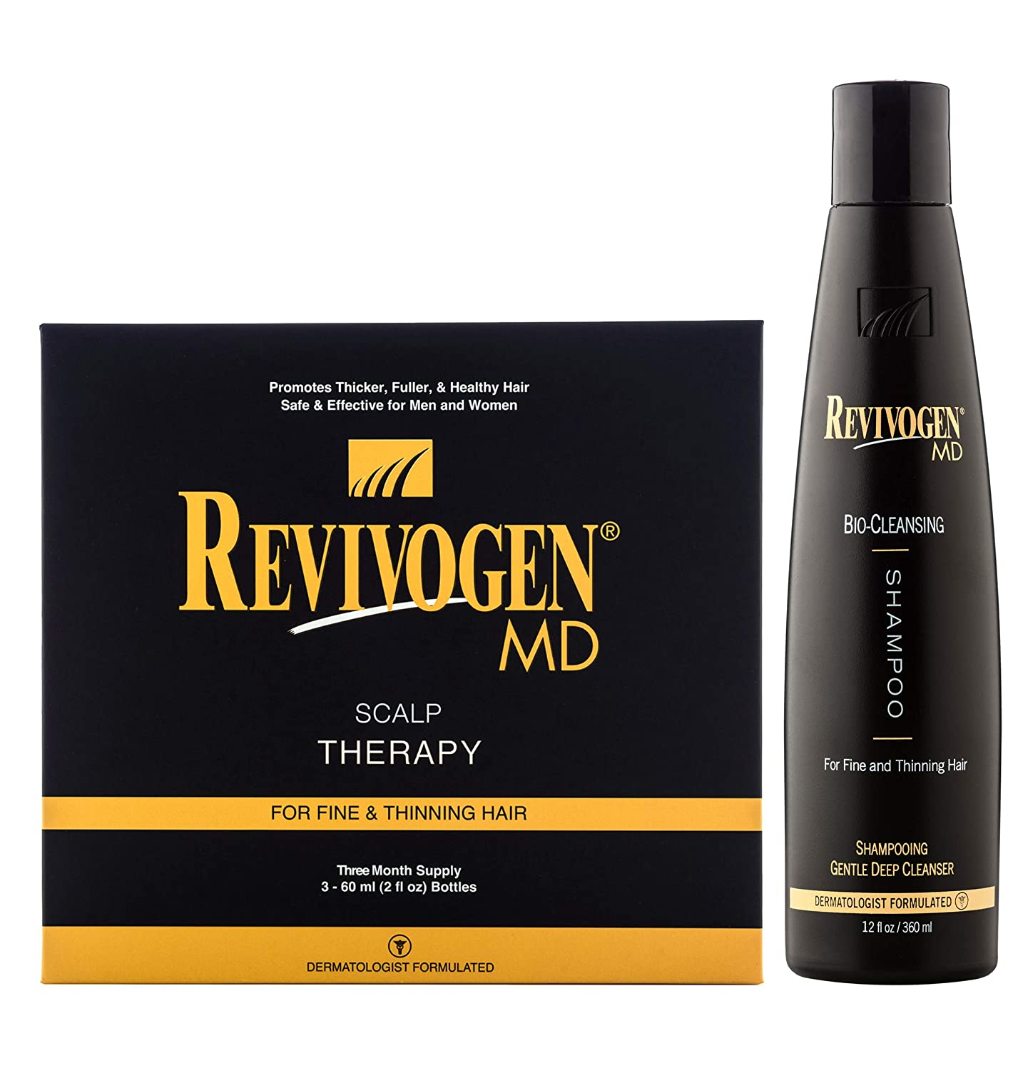 Revivogen MD Keratin Hair Building Fibers, Medium Brown, Unscented, 0.9 Oz 833753001037