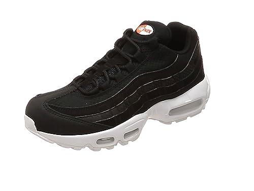 e88106248a Nike Men's Air Max 95 Premium Se Gymnastics Shoes, Black-White-Team Orange