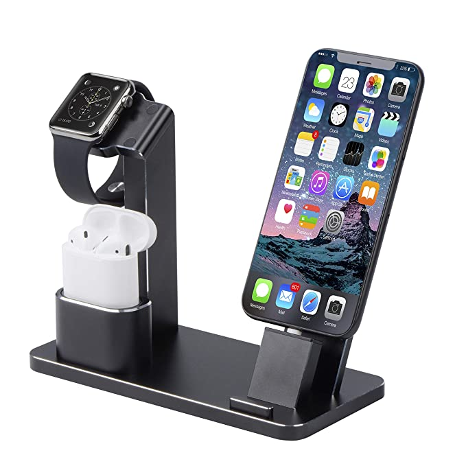 Soporte para Apple Watch, Airpods y iPhone Dock, SENZLE 4 en ...
