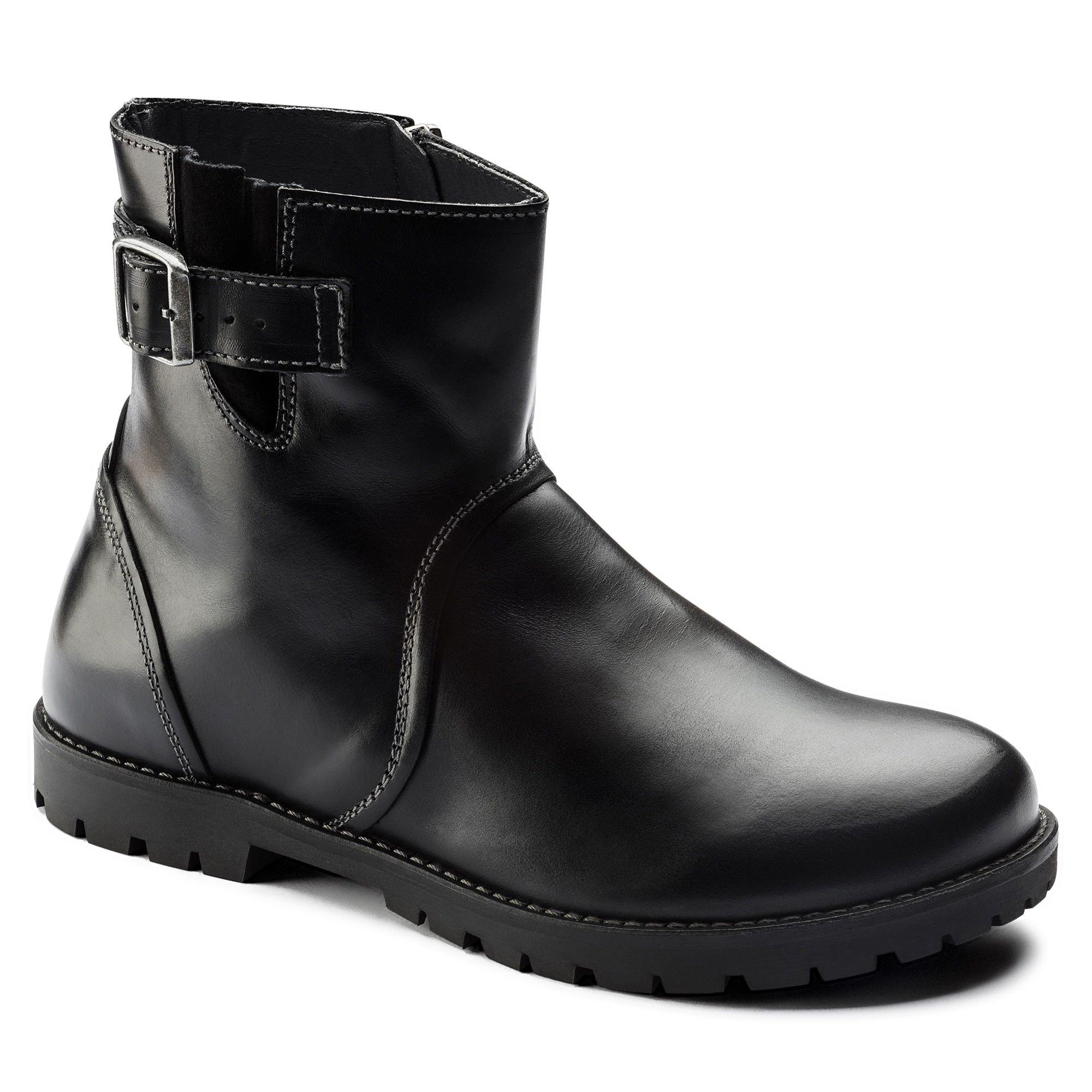 Birkenstock Women's Stowe Boot Black Leather Size 40 M EU