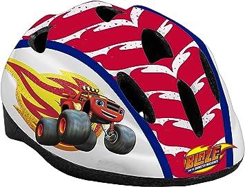 TOIMSA 10905 Casco Bicicleta niño – Blaze y los Monster máquinas, Rojo: Amazon.es: Juguetes y juegos