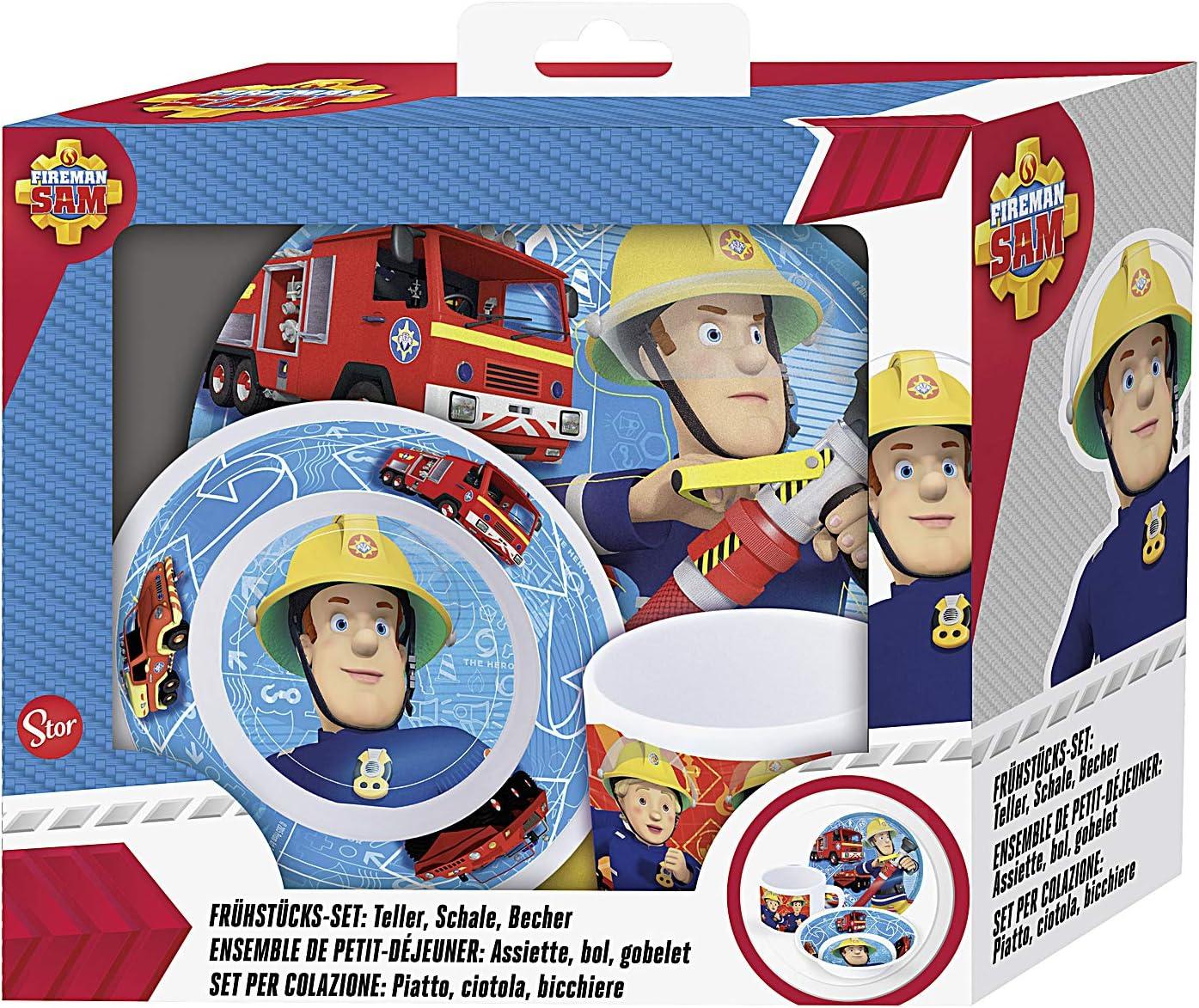 Plato descartable 8 STK bomberos einwegteller centro de mesa bombero Sam Teller