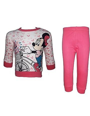 WD101131 Rosa Disney Pigiama neonata Manica Lunga Puro Cotone Principesse Art