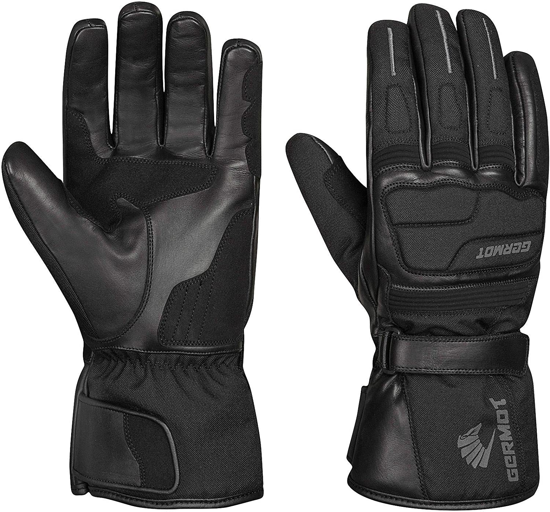 Germot Winter Handschuh Barrow Leder Motorrad Handschuh Atmungsaktiv Schwarz Sport Freizeit