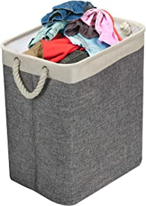 Sorbus Laundry Hamper Basket with Carry Handles & Detachable Rods, Great for Clothing, Linens, Toy Storage Organization, Closest, Bathroom, Bedroom, Nursery, Stylish Collapsible Design