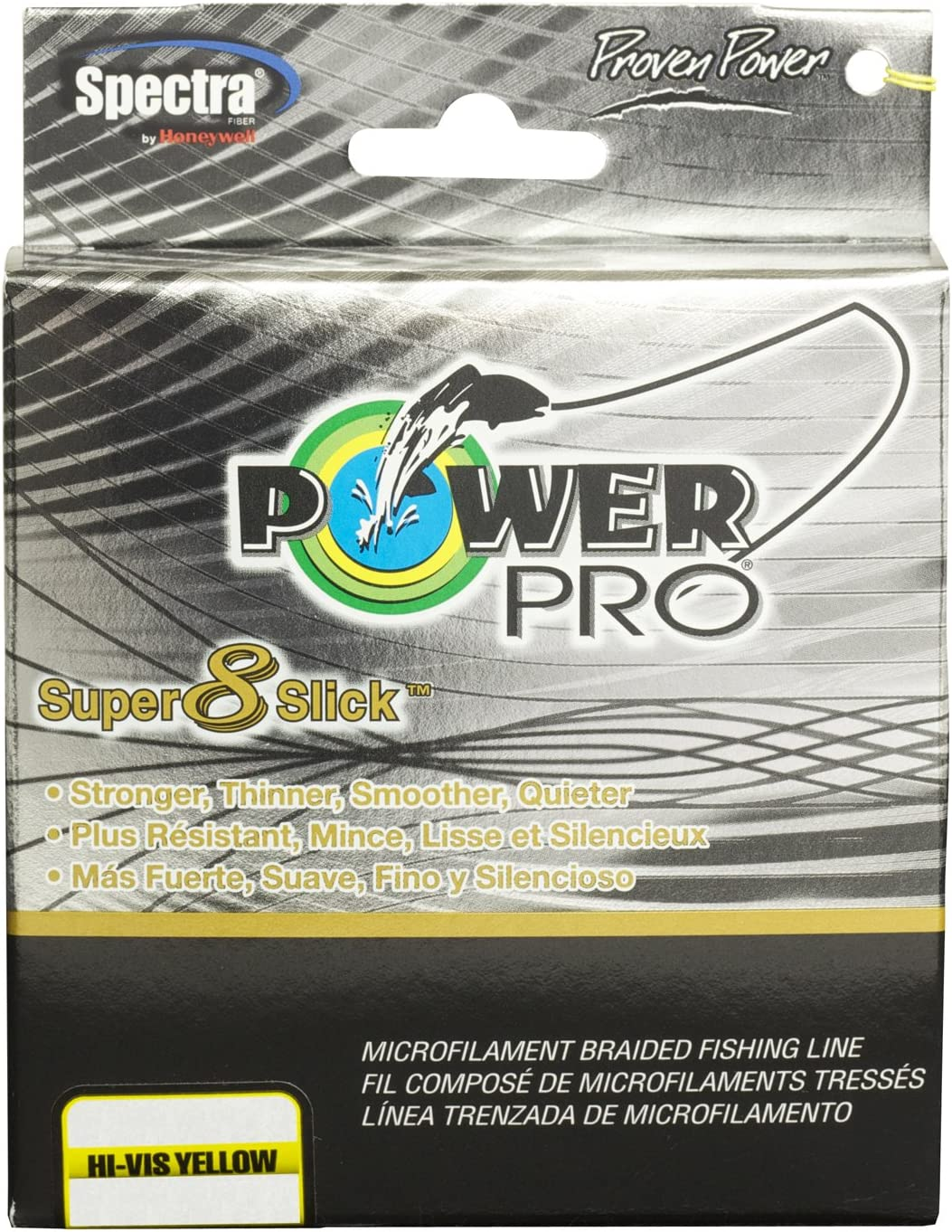 Power Pro Spectra Fiber Braided Fishing Line, Hi-Vis Yellow, 1500YD 150LB