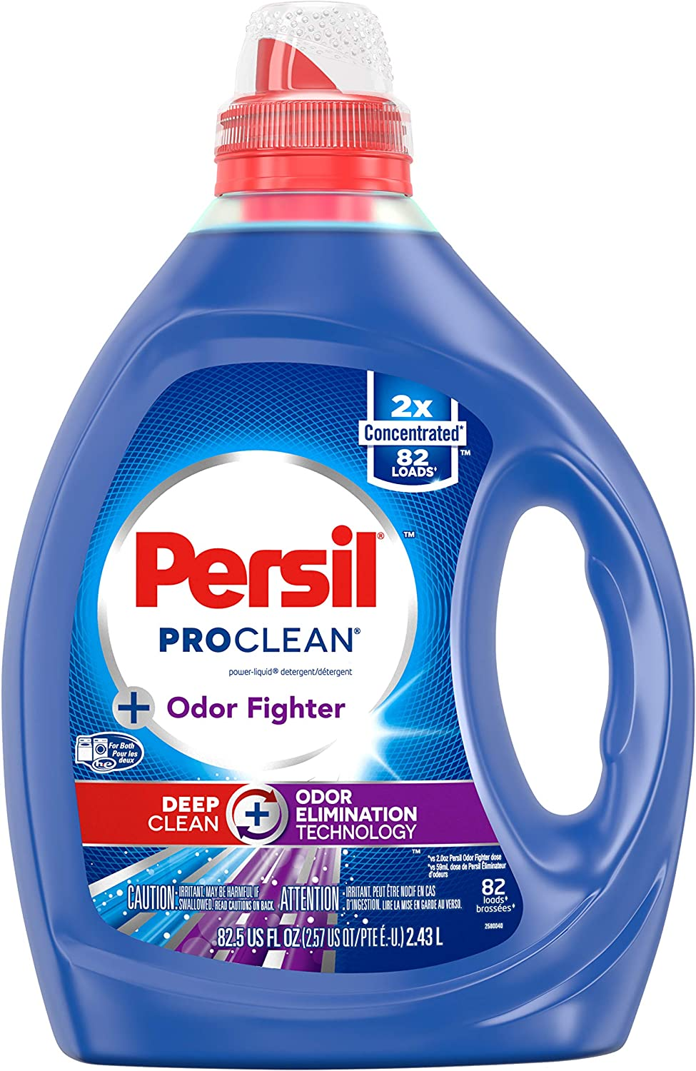 Persil ProClean Liquid Laundry Detergent, Odor Fighter, 2X Concentrated, 82 Loads, 82.5