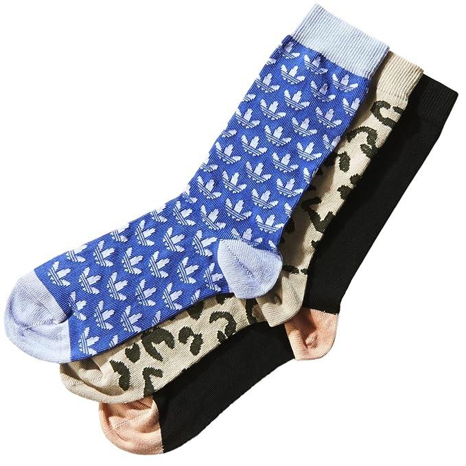 Adidas Originals De mujer equipo-calcetines, Pack de 3, negro/noche - carga/Blanco, Tamaño 35 - colorido, colorido, 31-34 EU: Amazon.es: Ropa y accesorios
