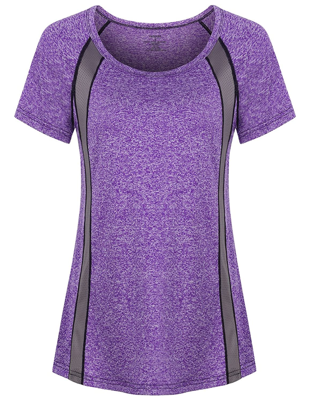 fa7264fcf9ab Training Shirts - Scoop Neck / Raglan Short Sleeve / Colorblock / Light  Weight / Loose Fit.
