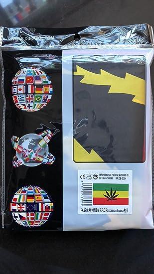 Durabol Bandera de Rastafari Marihuana Flag 90x150cm Satin 2 Anillas metálicas fijadas en el Dobladillo: Amazon.es: Jardín