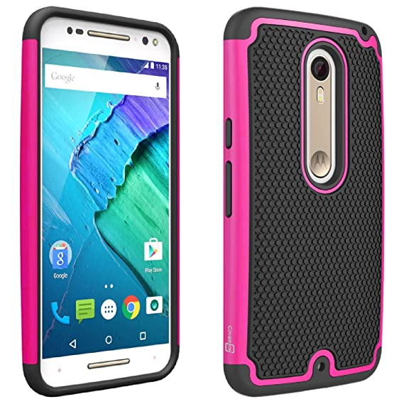 reputable site 01f4e af989 Motorola Moto X Pure Edition Case, Moto X Style Case, CoverON [HexaGuard  Series] Slim Hybrid Hard Phone Cover Case for Motorola Moto X Pure Edition  / ...