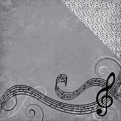 Amazon Moxie Music In Me Nothin But Treble Music Scrapbook Paper