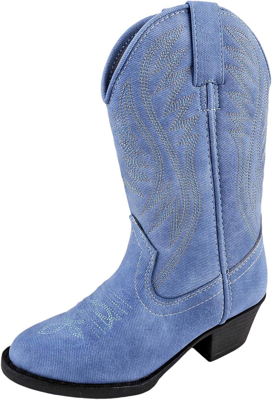 Smoky Mountain Girls Mesquite Western Boot Round Toe Indigo 10.5 D