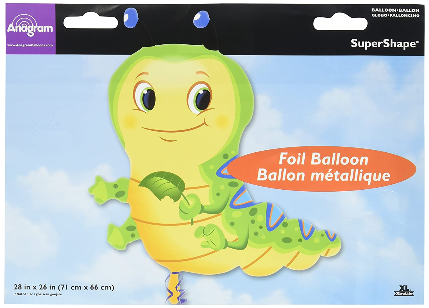 Anagram International 2601101 Cute Caterpillar Balloon Pack, 28' 28