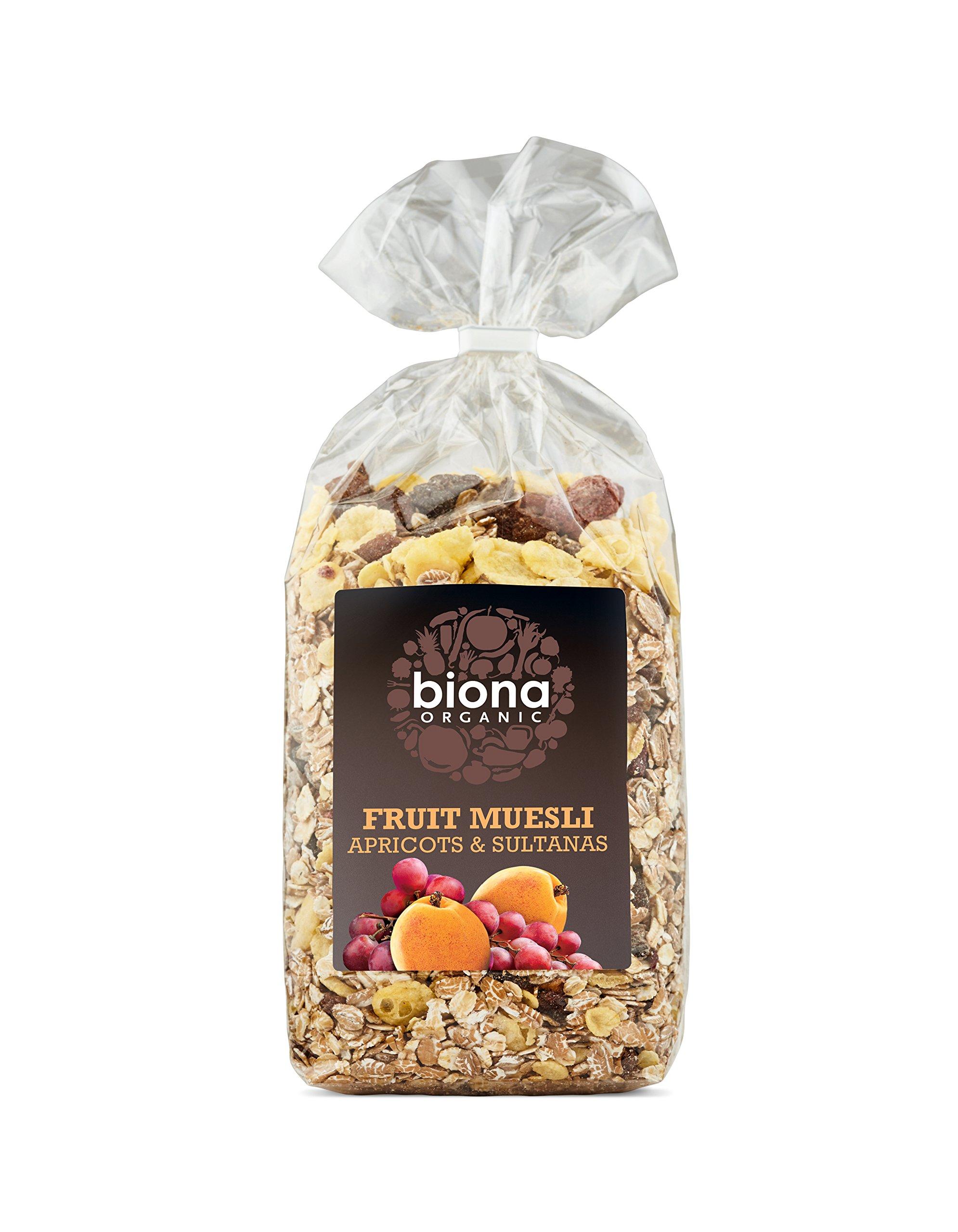 Biona Organic Apricot and Sultana Muesli 500 g (Pack of 3)