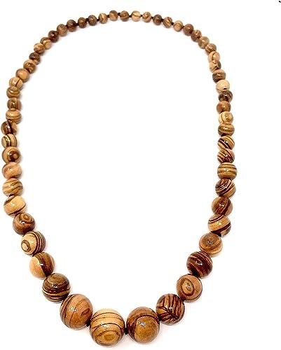 bagusto Collar con perlas de olivo - hecho a mano en España ...